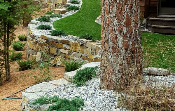 Natural Stone Walls & Steps